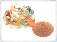 処理済みのゴミは有機肥料としてリサイクル可能。また、可燃ゴミとしても捨てられます。